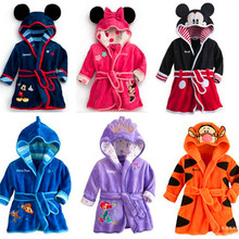 Children bath gown baby boys and girls Nightgown Pajamas New boy and girl cute cartoon bathrobe Nightgown dress Home Furnishing