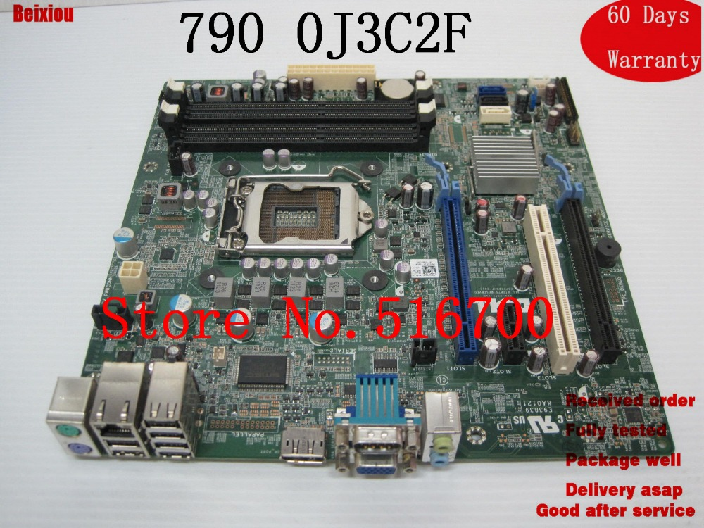 US $45 55 |Replacement Motherboard For Dell Optiplex 790 Desktop System  Motherbaord LGA 1155 0J3C2F J3C2F-in Motherboards from Computer & Office on
