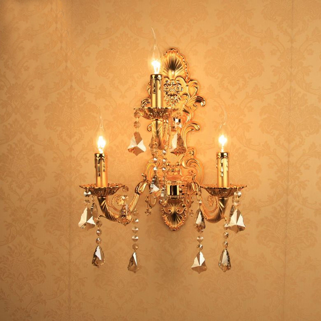 led crystal wall light gold bedside wall lamps office wall lights bedroom reading lamp led mirror