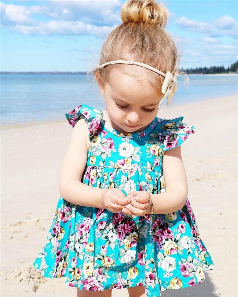 Summer Toddler Kids Baby Girl Clothing Floral Dress Sundress Briefs Flower Cute Outfits Clothing Dresses Girls