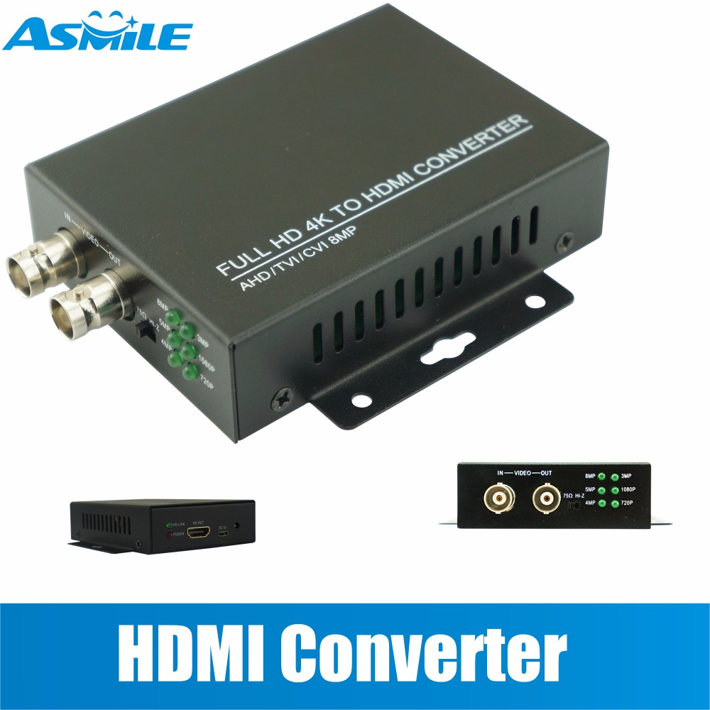 BNC HDMI Connector Video & Audio Composite Adaptor Box for Security Camera CCTV