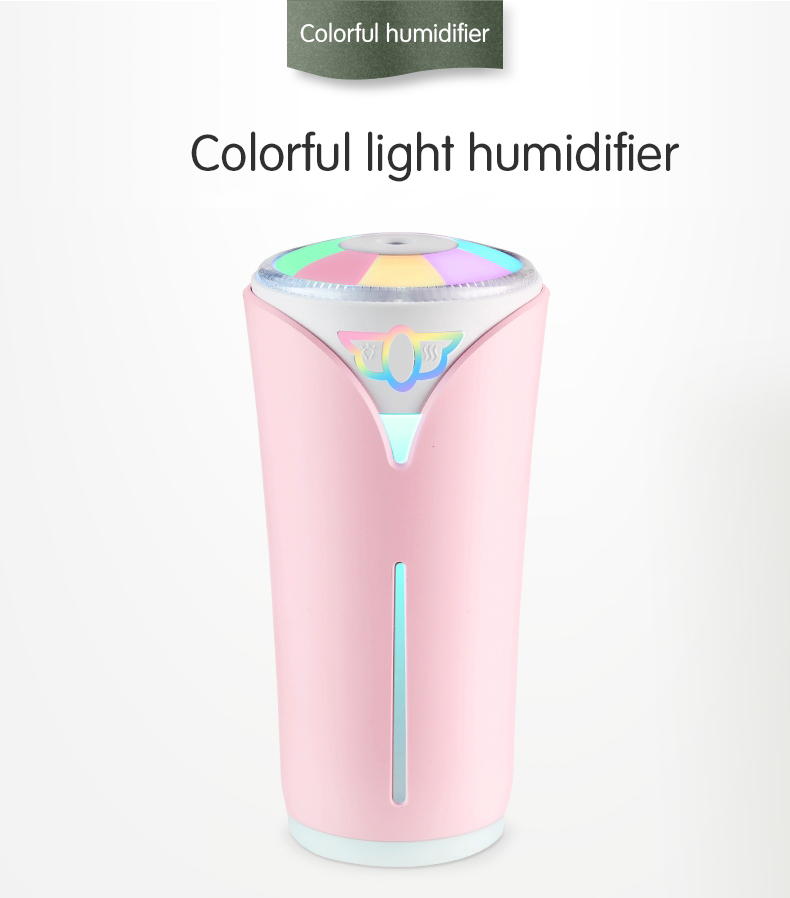 Multifunction Air Humidifier USB Ultrasonic Aroma Diffuser with LED Lamp Mini Fan 3 in 1 Electric Mist Maker280mlMultifunction Air Humidifier USB Ultrasonic Aroma Diffuser with LED Lamp Mini Fan 3 in 1 Electric Mist Maker280ml