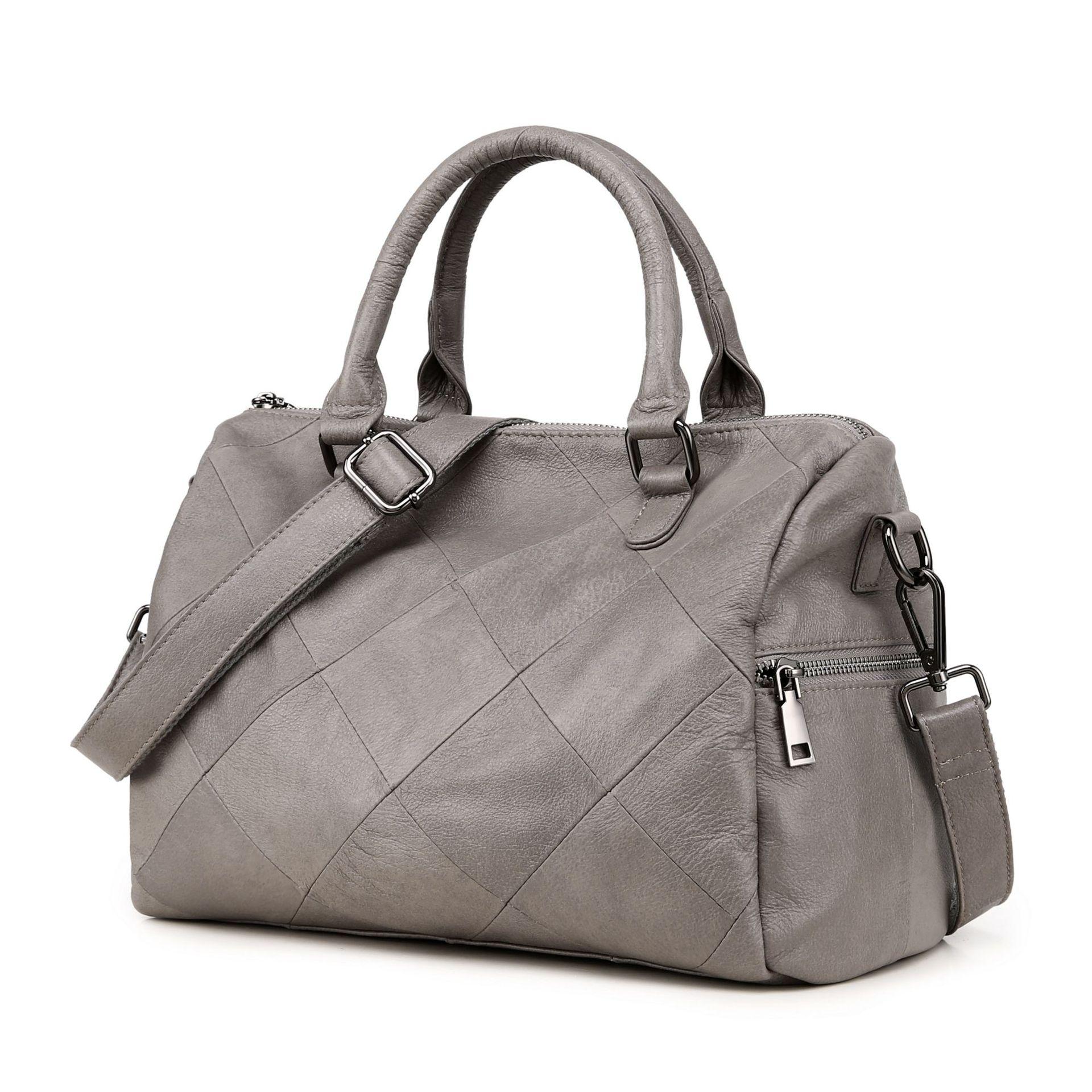 df6d7196e7a56 ICEV جديد الأوروبية أزياء بسيطة حقيقية حقائب يد جلدية حقائب الماركات  الشهيرة للمرأة جلد البقر السيدات. US  54.59