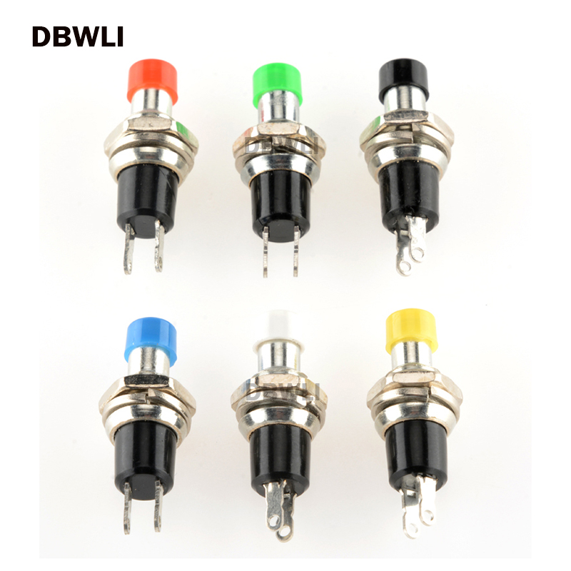 10pcs 7mm Momentary Push Button Switch Press The Reset Switch Momentary On Off Push Button Micro Switch Normally Open NO