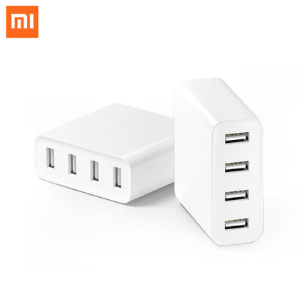 Original 4 ports XIAOMI mi USB Charger Travel Charge Adapter For iphone/samsung/lg/sony/htc Mobile Phone