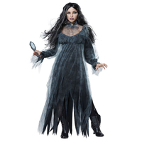 2018 New Halloween Party Ghost Bride Dress Women Witch Costume Cosplay Vampire Vintage Dress Fantasia Terror Role Playing Gothic