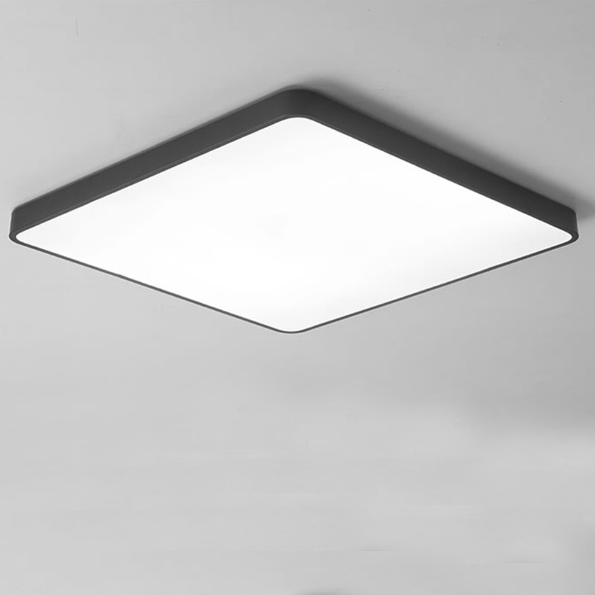 Ultra thin square LED ceiling light fixture for bedroom aisle dia 30 40cm iron Acrylic RC