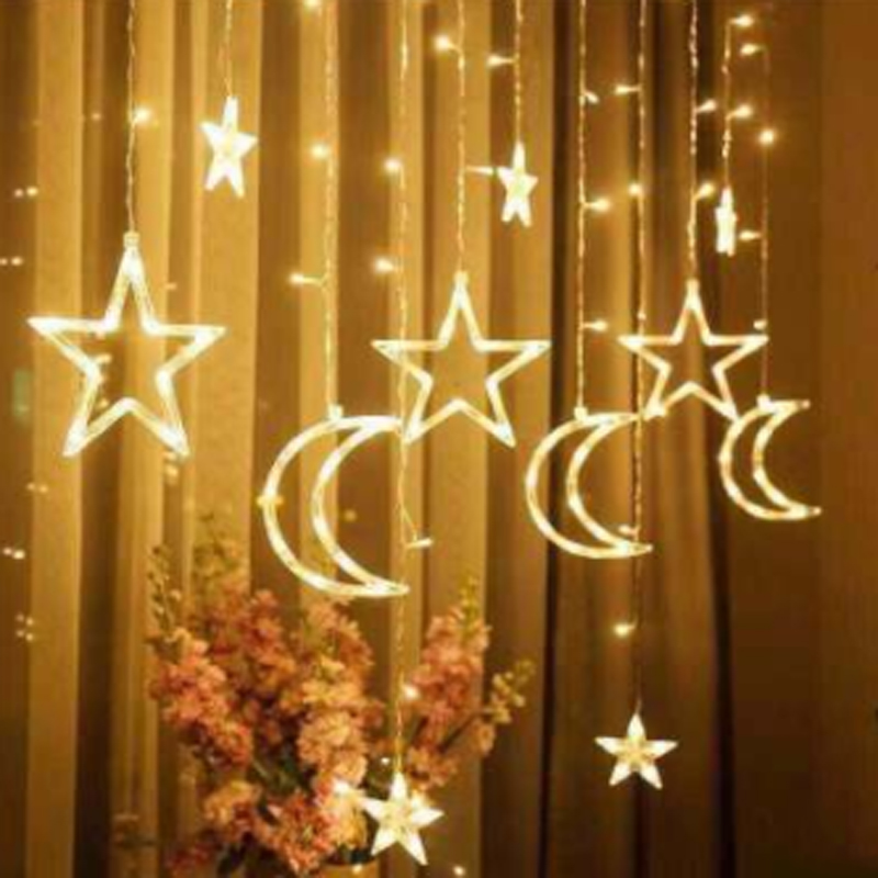 Battery Operated LED Fairy Star Lights with Stars String Wire Party Home Decor