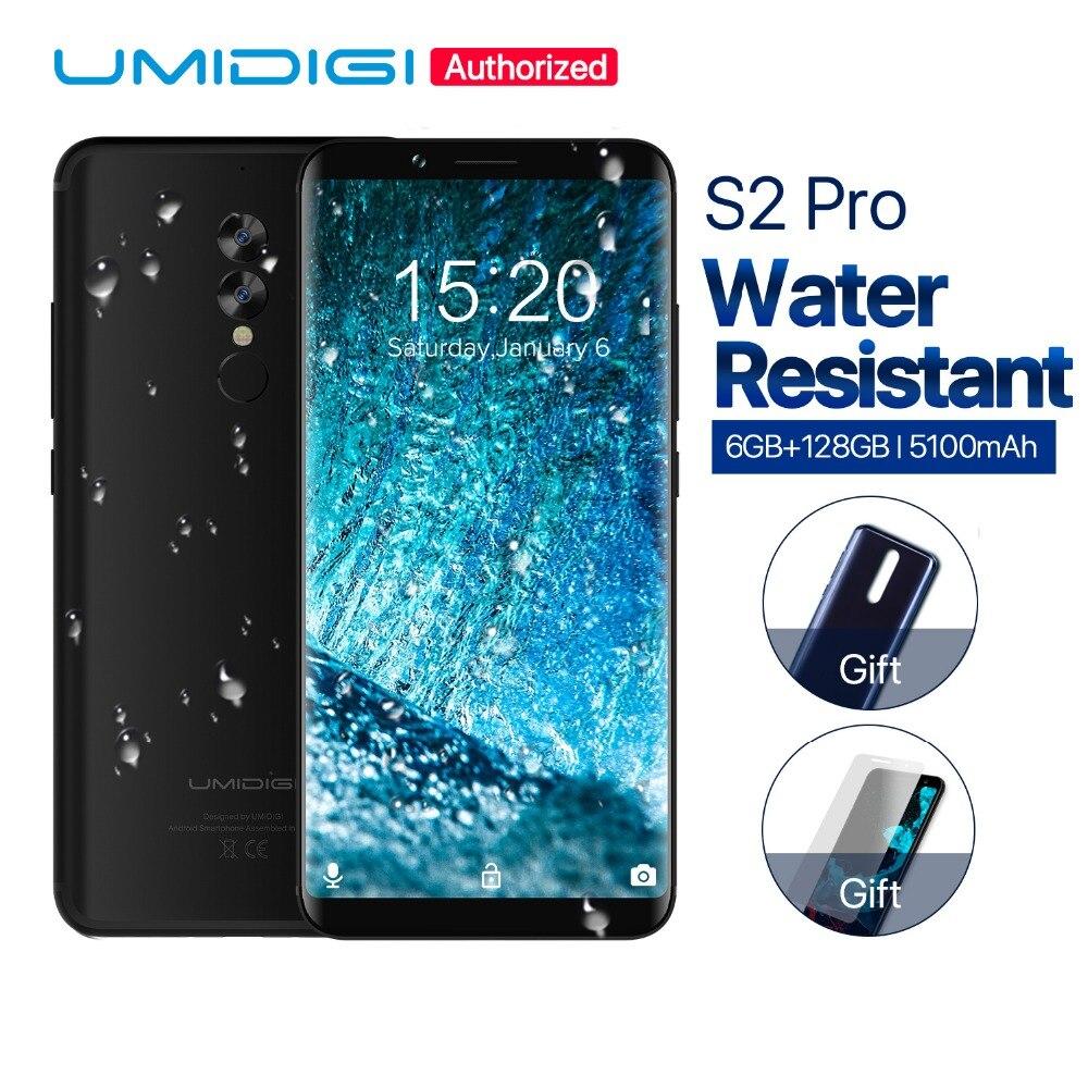 UMIDIGI S2 Pro 18:9 Full Screen 6.0inch Smartphone 6GB RAM 128GB ROM 5100Mah Helio P25 Android 7.0 4G LTE Mobile Phone