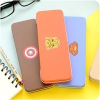 Hot Marvel Avengers School Pencil Box Stationery Makeup Box Bags Pencil Pen Case