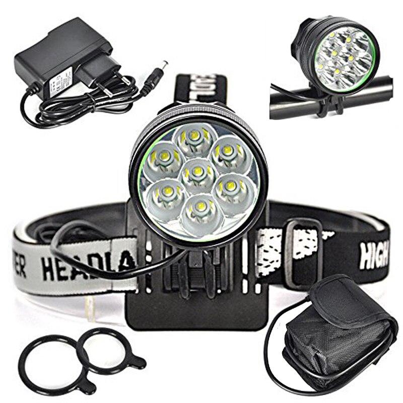 ФОТО 7x CREE T6 LED Bike Light CREE XM-L T6 LED 3 Modes Bicying Bicycle Lamp Linterna Bicicleta Farol Bike Accessories Head Light