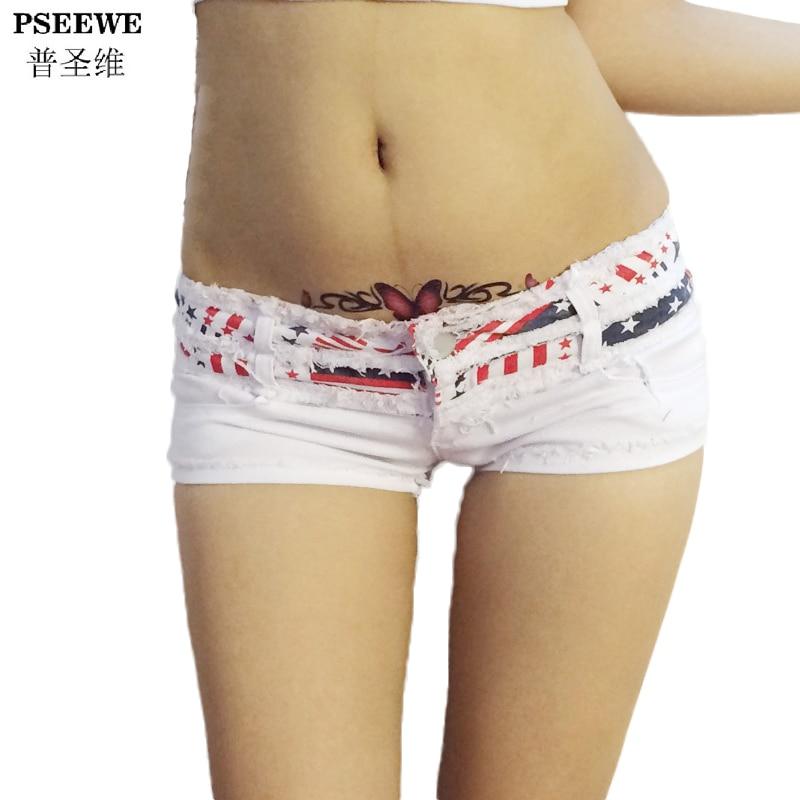 PSEEWE Woman Shorts Summer 2017 Sexy Denim Shorts Jeans Micro Mini Disco Super short shorts jeans women pantalones cortos mujer