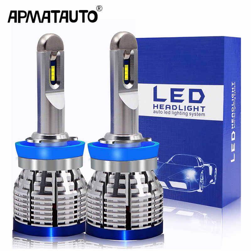 1set Mini Size LED H7 H4 H11 H1 H10 H16(JP) 6000K 20000lm Bulbs Car Headlight Kit Auto h7 led 9005 9006 hb3 hb4 lamp Fog Lights