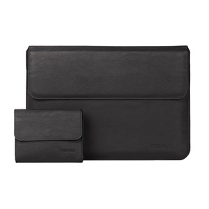 Image 2 - MOSISO PU Leather Laptop Sleeve Notebook Bag Pouch Case for Macbook Pro 15 Case Waterproof Unisex 14 Inch Laptop Bag Sleeve Cove