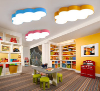Cartoon Creative Fairytale Lovely Clouds Design 3 Colors Iron Acrylic Led Ceiling Light For Kids Children