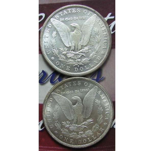 Копия Моргана доллар назад UNC два лица копия монеты
