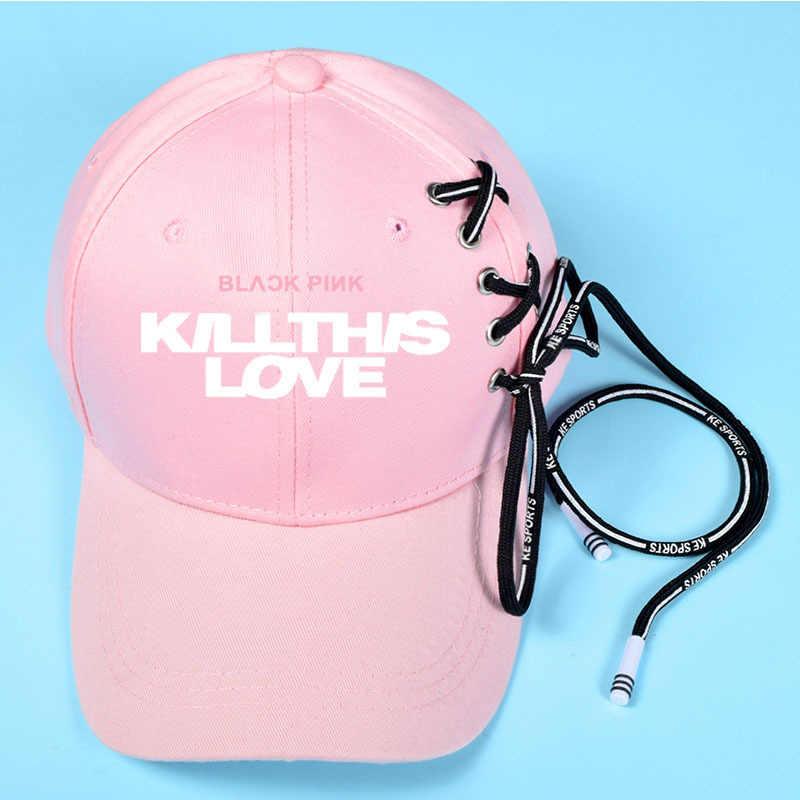 BlackPink Hats Kill This Love Ball Visors Cap LISA JISOO JENNIE ROSE Hats Baseball Hat Hip-hop Man Womens Visor Beanie Wholesale