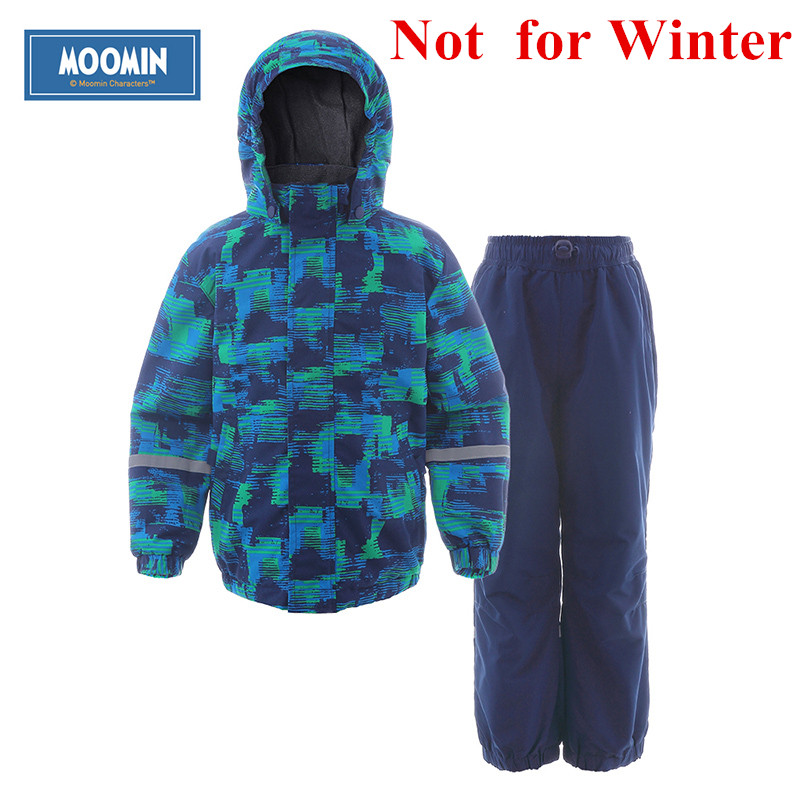Moomin 2016 new arrival Autumn Warm Children Clothes Set Character waterproof windbreaker Turtleneck Zipper Boys clothes set moomin 2016 new arrival winter waterproof romper 100