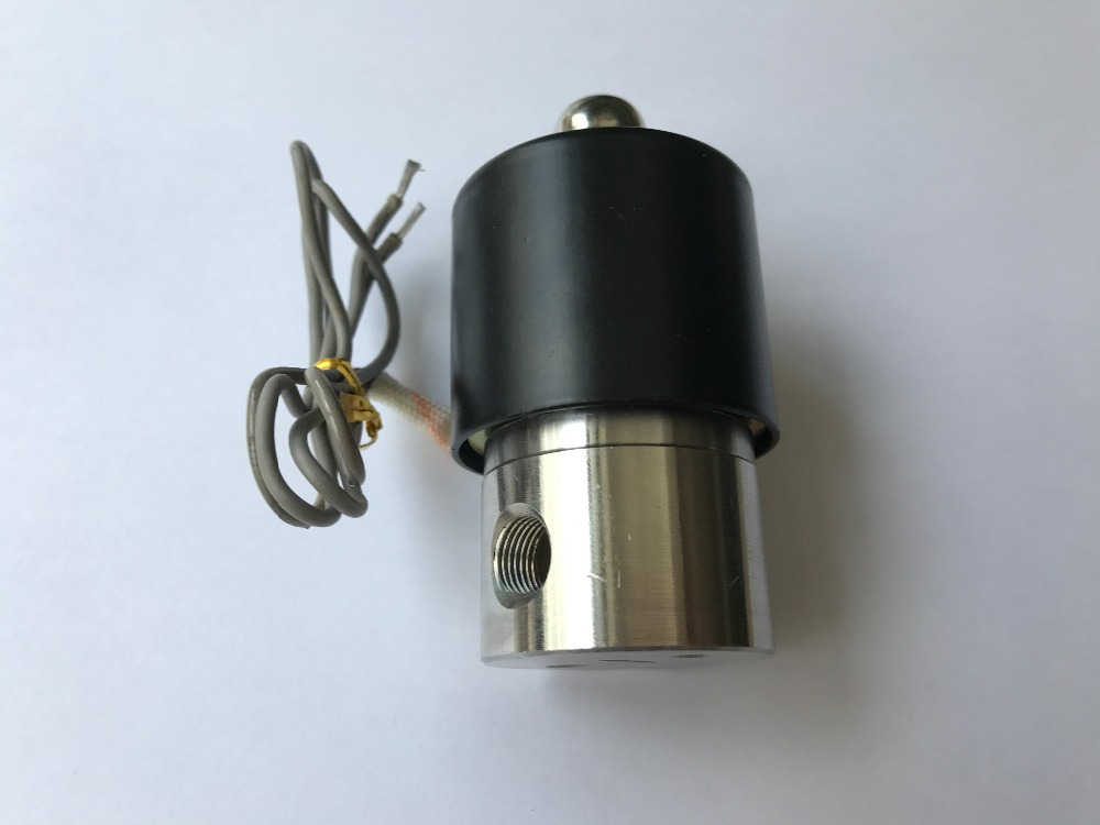 1/8' Stainless Steel Electric solenoid valve Normally Closed IP65 Square coil water solenoid valve u s solid 1 stainless steel electric solenoid valve 110v ac npt thread normally closed water air diesel iso certified