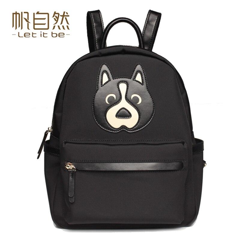 ФОТО Let it be brand women backpack oxford nylon school backpacks cartoon design for teenagers waterproof mochila