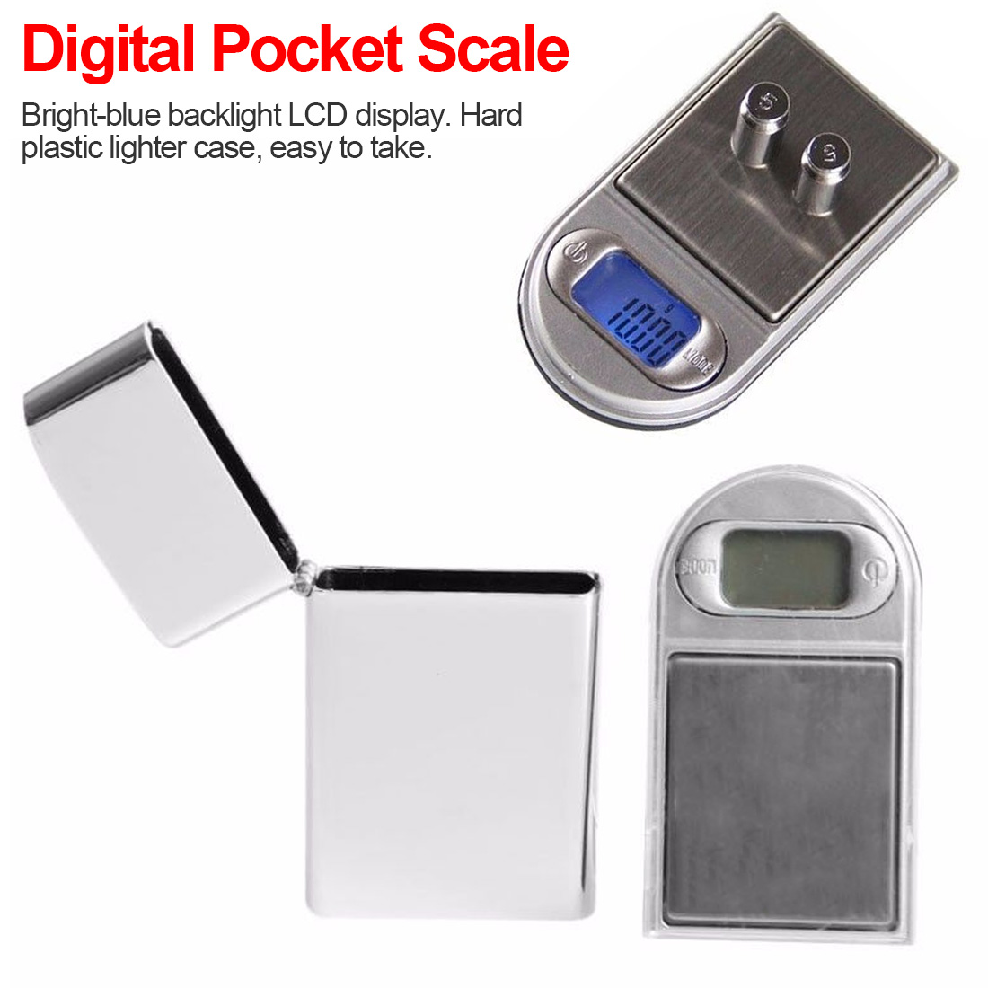 Mini <font><b>Digital</b></font> <font><b>Weight</b></font> Pocket <font><b>Scales</b></font> 200g <font><b>0.01g</b></font> LCD Display with Backlight Electric Pocket Jewerlry Gram <font><b>Weight</b></font> Balance image