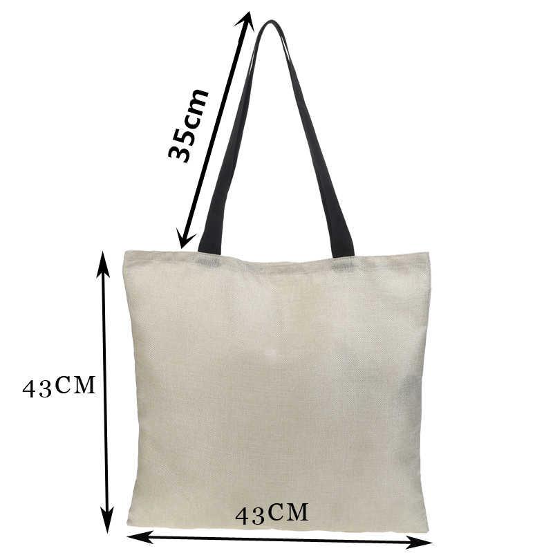 Ручная сумка Ms. Tote, двусторонняя печать, фото, постельное белье с мультяшным рисунком, Большая вместительная Складная модная сумка для шоппинга, Повседневная