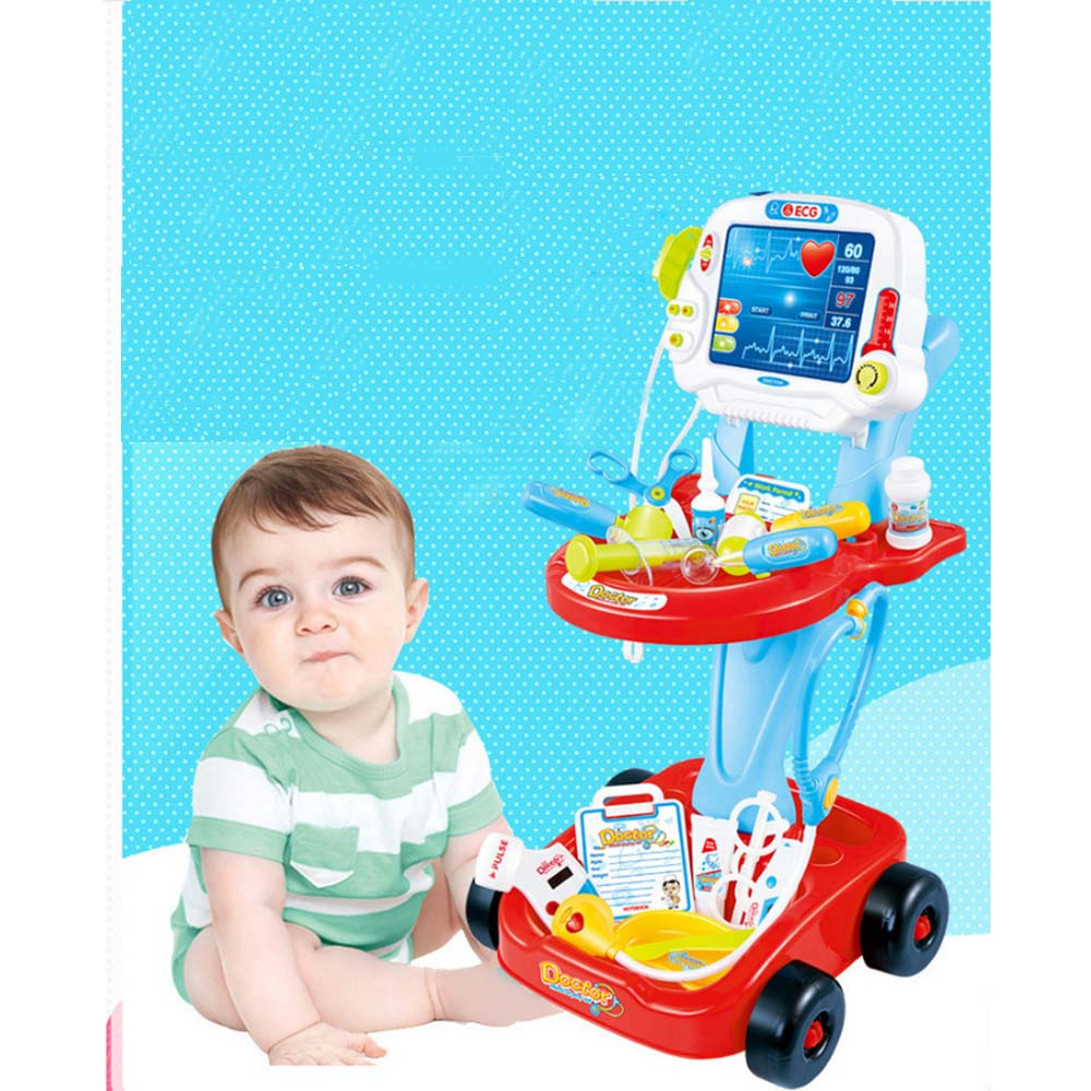 Pretend Play Medical Toys Set Children Classic Pretend Play Doctor Toy Set with Simulated Electrocardiogram Kit Role Play Toys image