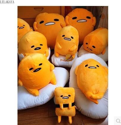 40*30CM Japan Cute Gudetama Lazy Egg Yolk Brother Plush Pillow Cushion Toys Kawaii Soft Stuffed Doll Creative Christmas Gift New