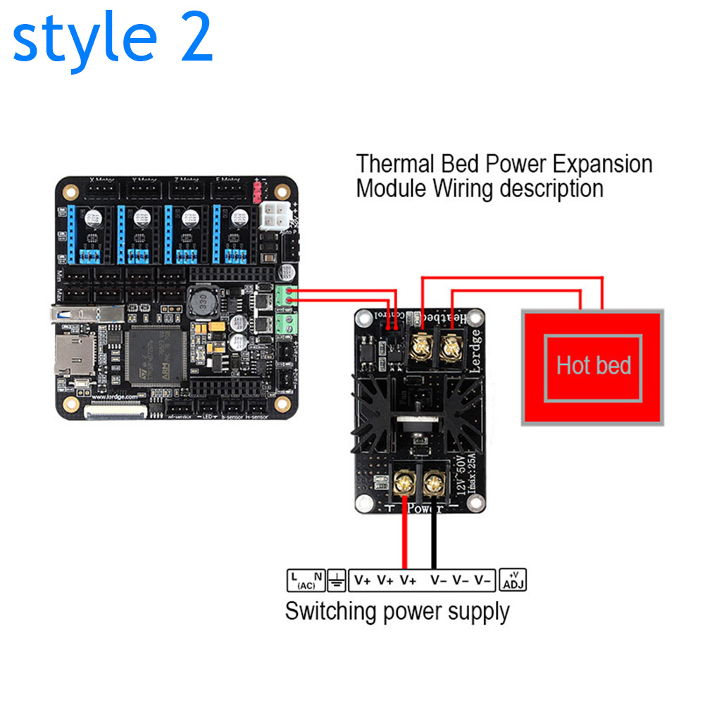 Hor Sale 3D Printer Heated Bed Power Module High Current 210A MOSFET Upgrade RAMPS 1 4 aliexpress com buy hor sale 3d printer heated bed power module  at virtualis.co