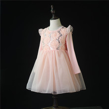 New Spring Girls Dress Children Clothing Girls Birthday Party Dress Long Sleeves Embroidery Princess Dresses Christmas Party