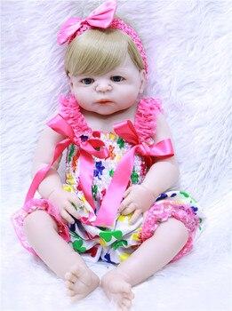 Bebe Reborn doll 57CM Full Body silicone doll Girl Reborn Baby Doll Bath Toy Lifelike Newborn Princess realista Bonecas Menina