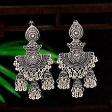 Retro Egypt Bells Tassel Jhumka Earrings Fashion Women Indian Jewelry 2019 Classic Geometric Tribal Gypsy Dangle Hanger