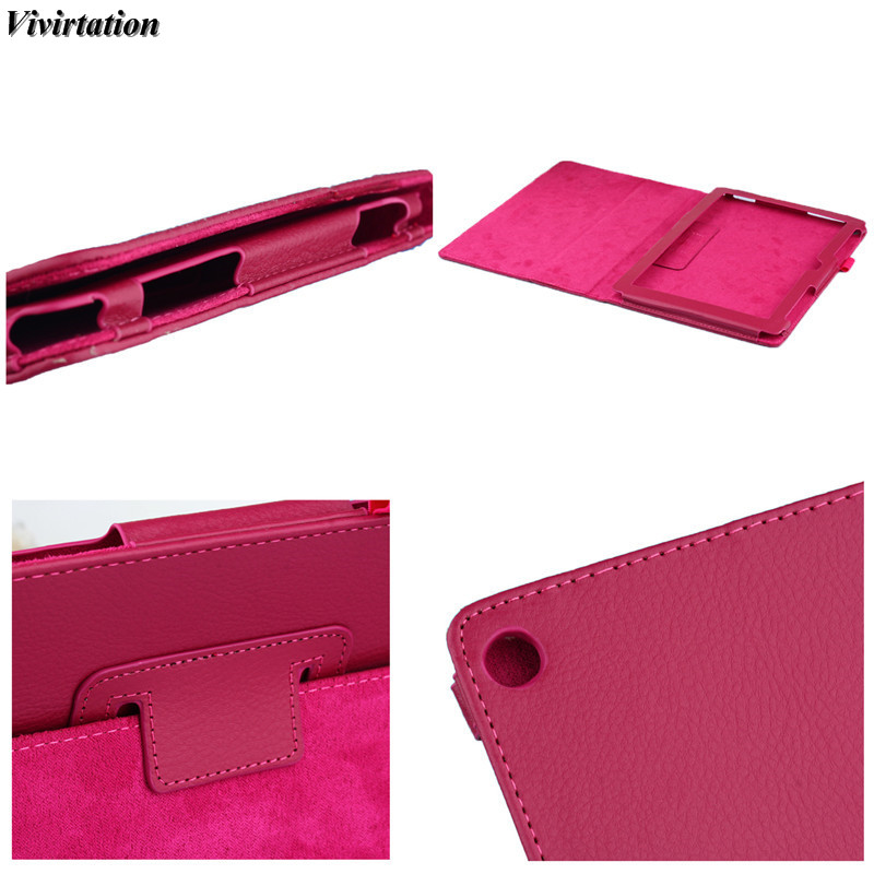 Viviration Leather Fashion Tablet Accessories Protective PU Waterproof Tablet PC Cover Case For Asus Zenpad 8.0 Z380 Tablet PC