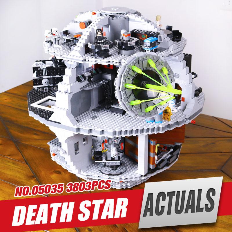 Free Shipping LEPIN 05035 Star Wars Death Star Building Block Bricks Toys Kits Mini figure Compatible