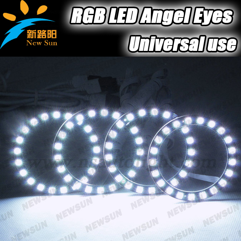 Ultra bright 16 color rgb led halo ring light 72mm DIA,12V Multi color RGB angel eyes with remote control for car headlight 72mm