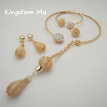 Комплект ювелирных украшений kingdom ma Женский длинный свадебный