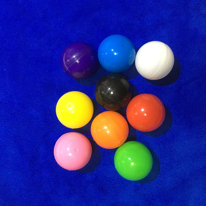 1000pcs 40mm Solid Colored Plastic Toy Capsules For Vending Empty Plastic Toys Ball For Lottery Draw
