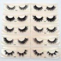 Mink soft handmade real long E01 for 3D Mink Visofree makeup volume lashes natural eyelash Eyelashes extension Lashes