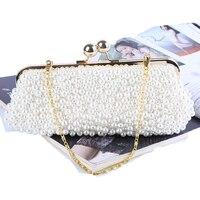 Completa frisada mulheres imitação de pérolas em forma de concha do vintage noite sacos sacos de ombro do saco das mulheres, saco de embreagem para o casamento