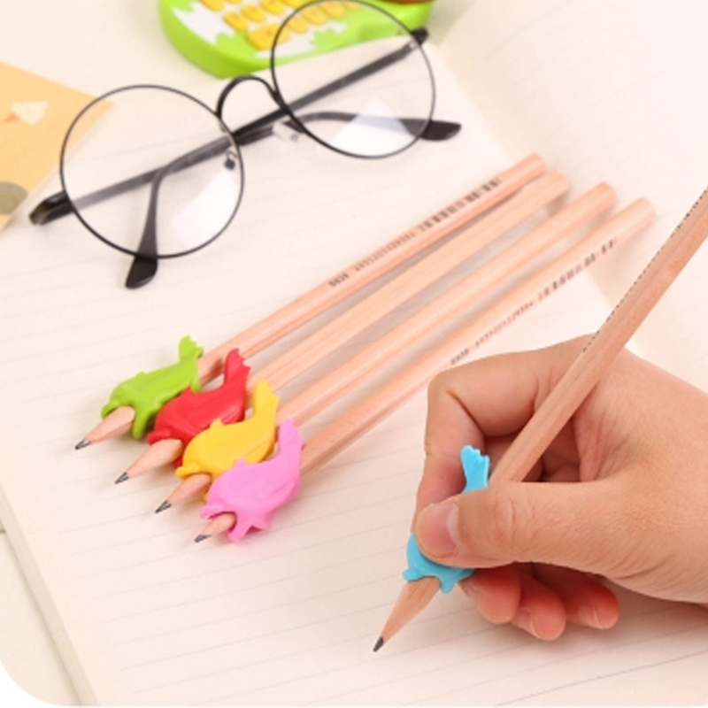 10pcs/set Kawaii Pen Pencil Grip Holder Writing Posture Corrector Random Color For Correct Children's Writing Posture #5