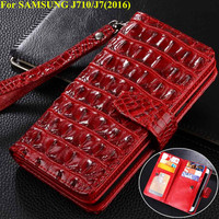 Luxury Wallet PU Leather Case For Samsung Galayxy J7 2016 With Card Holder Phone Bag Flip