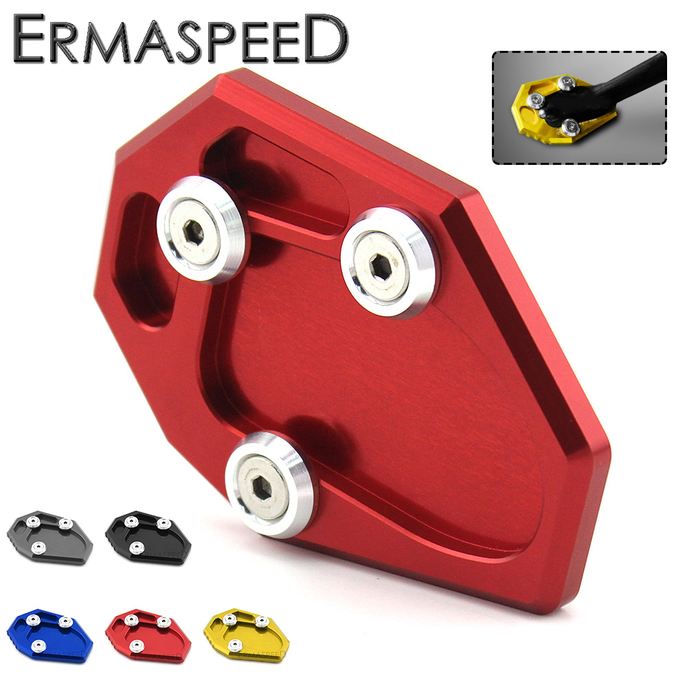 CNC Aluminum Motorcycle Side Stand Enlarger Plate Kickstand Enlarge Extension Pad Plate Accessory for Yamaha MT07 2014 2015 for bmw f800r 2009 2012 2013 2014 hp2 08 motorcycle cnc aluminum side stand enlarger cnc kickstand pate pad side stand enlarger