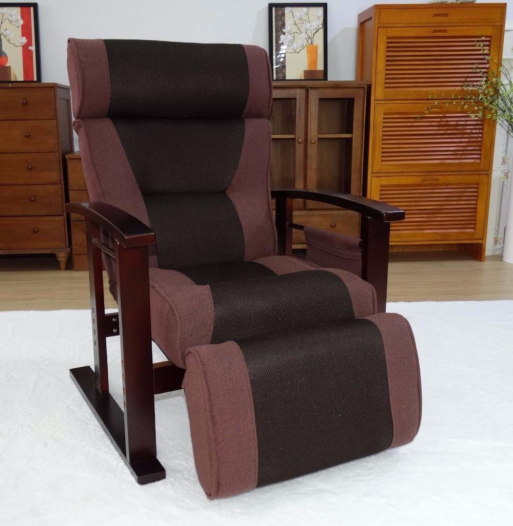 Altura Ajustable Silla Reclinable Con Otomana Moderna Sala De  # Muebles Otomanos