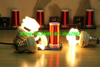 Mini tesla coil Tiny tesla coil science toy can Generate spark spark Teaching experiment( Assembled)