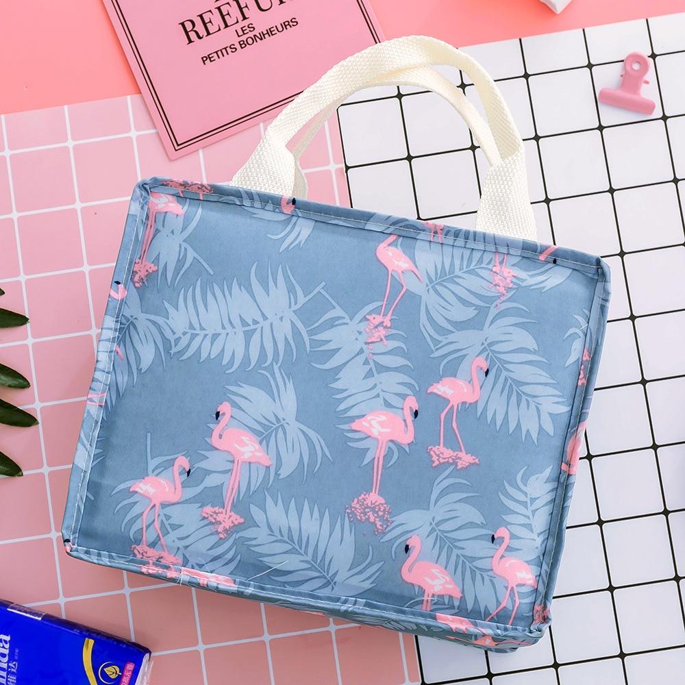 Multi-functional Portable Big Capacity Flamingos Document Ba