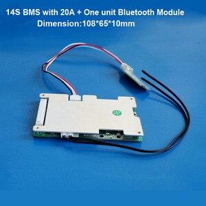 Image 2 - 14 วินาที 58.8 โวลต์ Li ion สมาร์ทบลูทูธ BMS APP ซอฟต์แวร์การจัดการสำหรับสกู๊ตเตอร์ไฟฟ้าจักรยานแบตเตอรี่ lipo กับ 20A to 60A