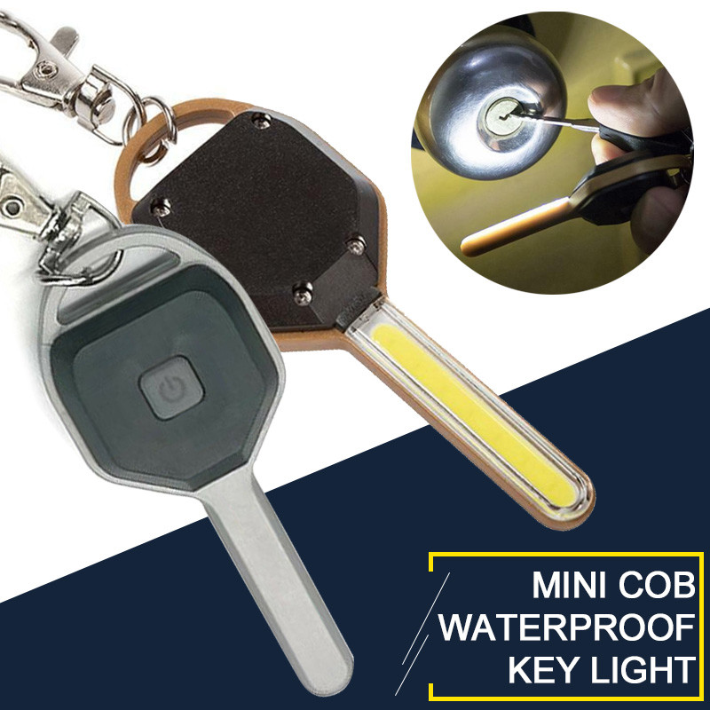1PC Mini COB LED Key Chain Flashlight Keychain Portable Keyring Light Torch Lamp Pocket Emergency Camping Lamp Backpack Light