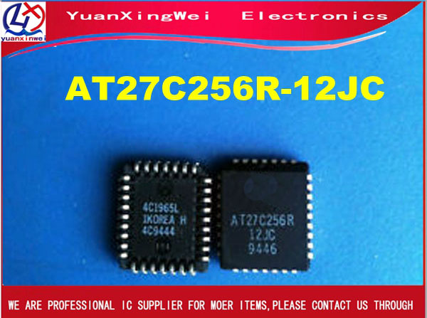 AT27C256R 12JC AT27C256R ATMEL PLCC 32 IC 10pcs/lot FreeShipping-in Replacement Parts & Accessories from Consumer Electronics