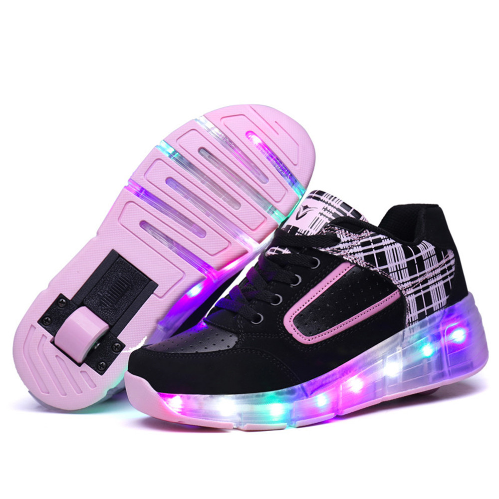 Children Roller Shoes Roller Skates Men and Women Single Wheel Children's Shoes Heelys Wheel Children's Shoes цены онлайн