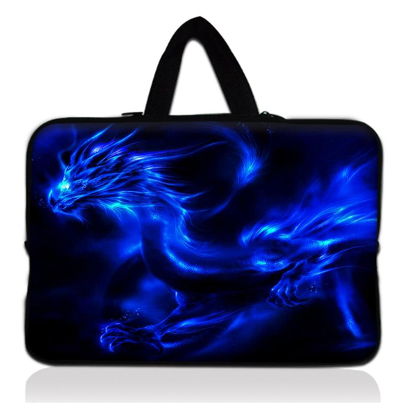 2015 New dragon Print Laptop Sleeve Bag Case Carrying Handle Bag For Apple Dell HP Acer Asus 13 13.3 Inch Notebook Netbook PC #